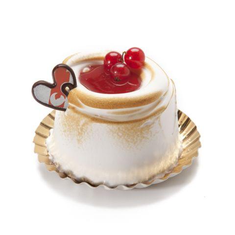 Eénpersoonsijstaartje valentijn aardbei
