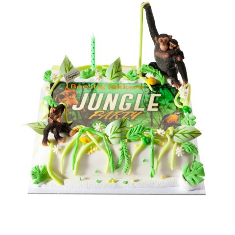 Themataart met suikerpasta Jungle