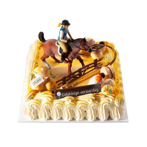 Themataart met decoratiekit Paard met ruiter
