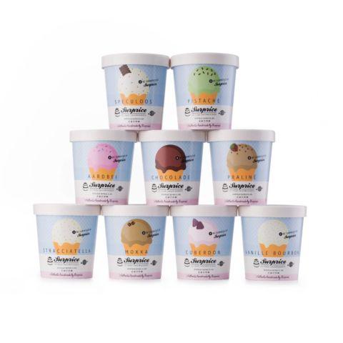 Aardbeien ijs met Steviasuiker - 1 liter