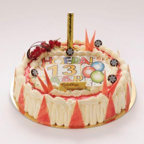 Verjaardagstaart met suikerprint